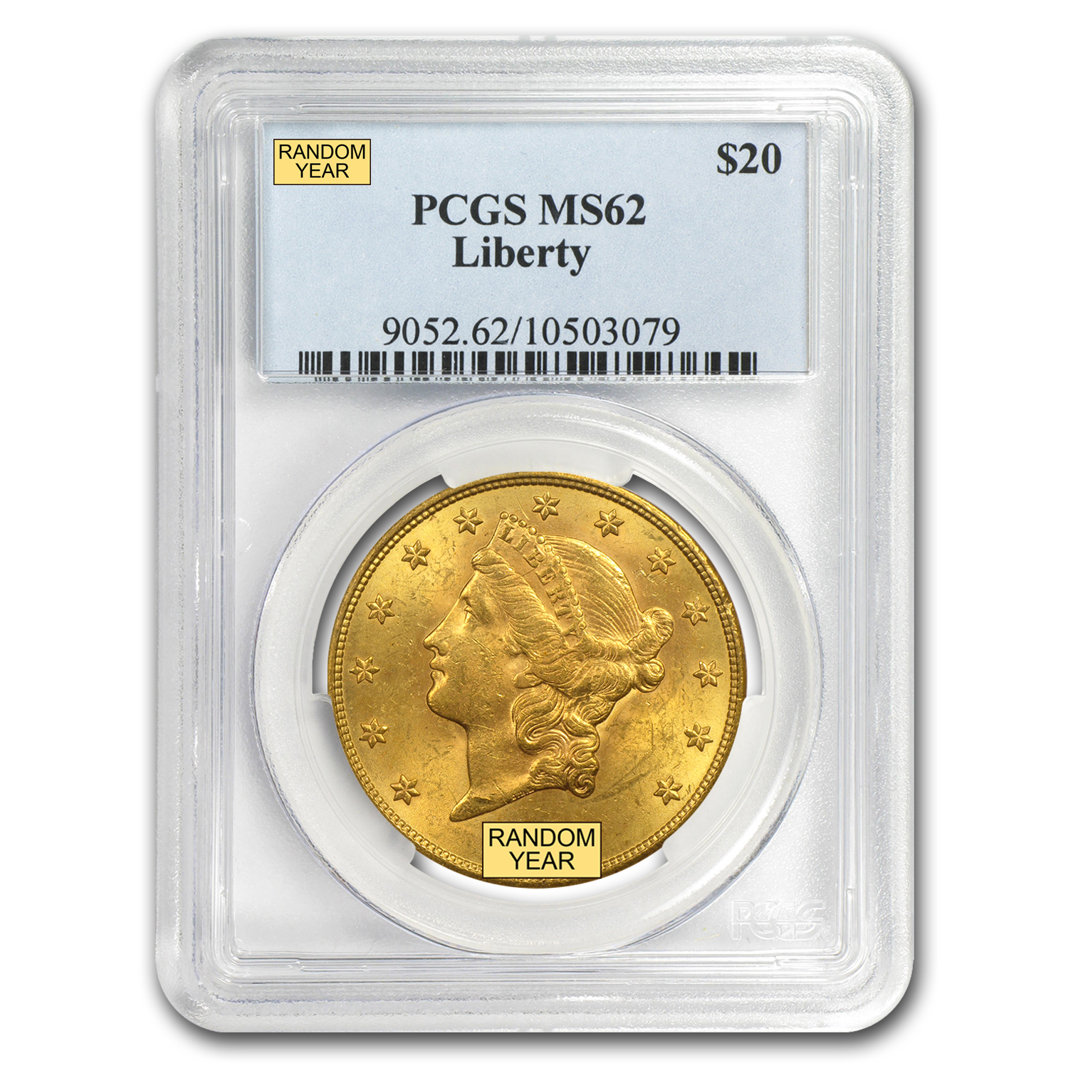 $20 Liberty Gold Double Eagle MS-62 PCGS (Random)